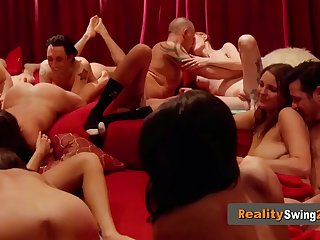 mandy and matt pinkie swear on having a good time at the swingers party