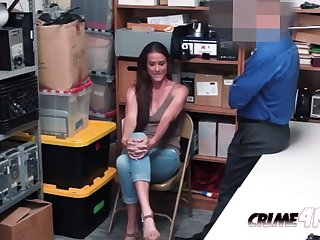 hot milf sofie sucks and takes officers chubby fat cock against someone's skin desk