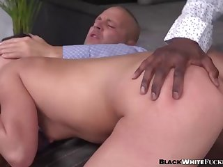 hot secretary jess lincoln ass fucked by bbc in threesome