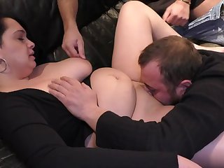 bisexual horny couple having fun