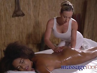 massage rooms wet slippery and oiled interracial lesbians fu